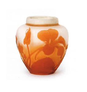 ガレ ナスタチウム文化瓶