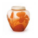 美術品の骨董品・美術品 ガレ ナスタチウム文化瓶