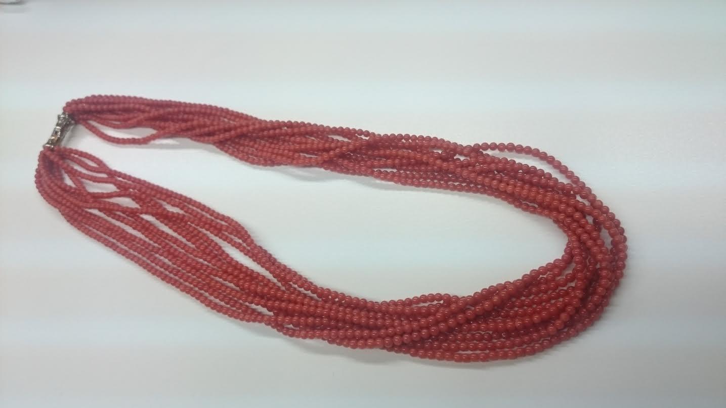 赤珊瑚 ネックレス 10連
