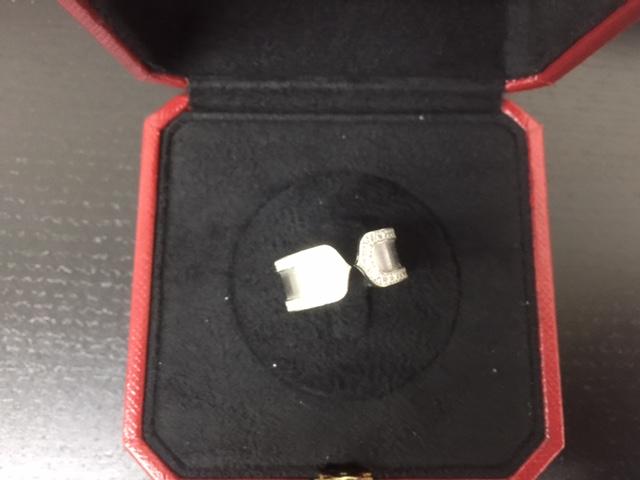 カルティエ C2ダイヤリング ダイヤモンドエッジ