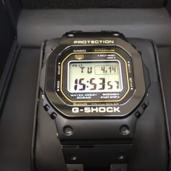 G-SHOCK GMW-B5000TB-1JR フルメタル チタン ブラック 買取価格100000円