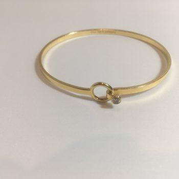 ティファニー バングル ダイヤモンド K18YG 買取価格60,000円