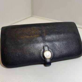 エルメス ドゴン レクトヴェルソ(ドゴン ロング) 黒 財布