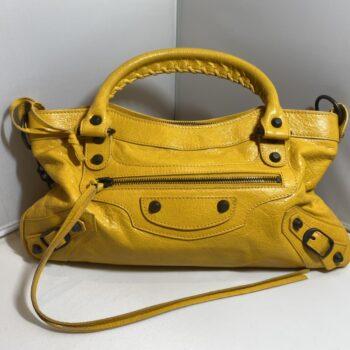 バレンシアガ シティ ハンドバッグ 黄色