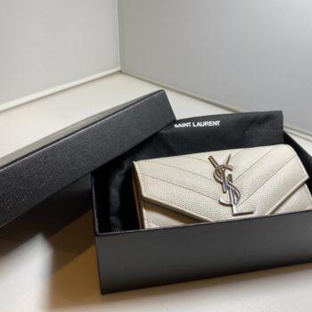 サンローランパリ カードケース 白